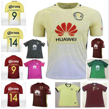 Top Thai quality 16 17 Mexico club America jerseys O.PERALTA 2016 American 100th anniversary red yellow soccer football jersey