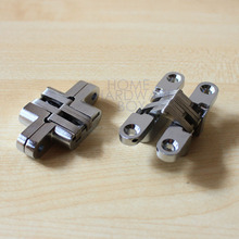 2 pc hidden hinge stainless steel invisible hinges wooden box