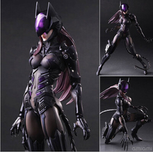 2016 NEW hot 28cm Catwoman Batman super hero collectors action figure movable toys Christmas kids gift for chilren doll(China)