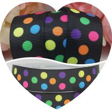 "Dobro 7/8"" 22MM Oblique Colorful 3 Polka Dots Printed Grosgrain Ribbons Tape Sewing Gift Supplier Handmade Apparel 100Y"