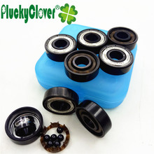 Buy PluckyClover~8pc New Updated 608z Ceramic Si3n4 Ball Bearing Abec11 Inliner Roller Skates Competition Skateboard Scooter Bearing for $9.52 in AliExpress store