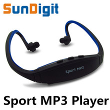 Hot Sell For 2016 Sport MP3 Player Radio FM Outdoor Head wearing MP 3 Players Sports Earphone Music Support Micro SD/TF Card