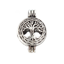 5pcs/lot Copper Perfume Pendant Hollow Life Tree Owl Heart Fragrance Aromatherapy Locket Essential Oil Diffuser Pendant Necklace