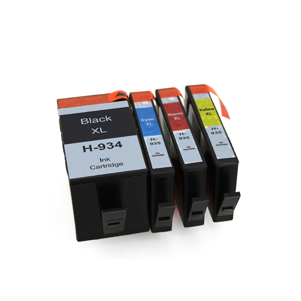 Full ink 1Set 4 PCS ink Cartridge for HP 934 935 XL HP934XL HP935XL for HP Officejet Pro 6230 6830<br>