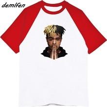 Rapper XXXTentacion marca-ropa Hip Hop hombre Guy o-cuello algodón Raglan  manga 3d camisetas Hip Hop camisetas Tops 01df47eee35