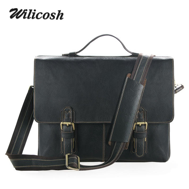 HandBags Men Genuine Leather Men Bag New Famous Brand Men Shoulder Crossbody Bags Messenger Bags Fashion Mens Travel Bags WL160<br><br>Aliexpress