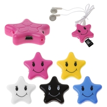 OOTDTY Star Shape MP3 Music Media Player Support Micro SD Card + USB Cable Earphone(China)