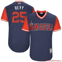"MLB Men's Los Angeles Angels Ben Revere ""Revy"" Baseball Navy 2017 Players Weekend Authentic Jersey(China)"