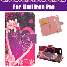 J&R Cover For Umi Iron Pro Moblie Case Cartoon Fashion Painted PU Stand Flip Leather Case For Umi Iron Pro Phone Case