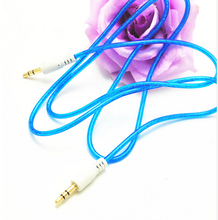 transparent 3.5 mm Jack Male to Male Audio Stereo Aux Extension Cable Cord For iPhone iPod 500pcs