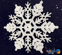 Christmas ornaments window decorated decorated snow and ice effect scene Acrylic snowflake diamond effect 2
