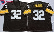 Embroidered Logo Franco Harris 32 black Throwback high school FOOTBALL JERSEY for fans gift cheap 1108-29(China)