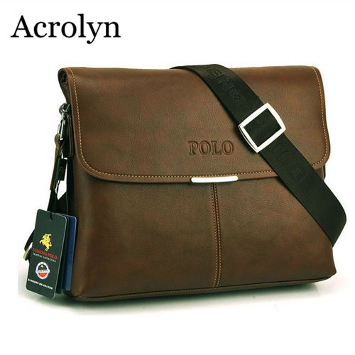 Men's Business Shoulder Bag Casual Messenger Bags High Quality IPAD Leather Bag Free Shipping(China)