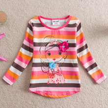 2017 New Children T shirts for Girls Clothes Flower butterfly Infantis Brand Kids T-shirts Baby Girl T shirt