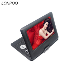 LONPOO 2018 Newest portable 10.1 Inch DVD player with rotatable screen game and TV function support CDplayer MP3 for home(China)