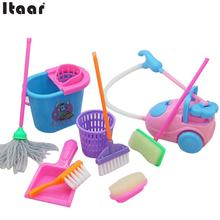 9Pcs/Set Cleaning Tool House Supplies Kids Pretend Toys Funny Creative(China)