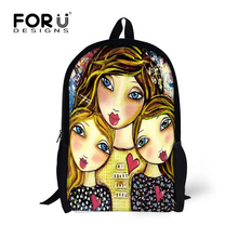 Stylish Girls Backpack Cartoon Princess Children School Backpacks Preppy Style 16inch High School Student Kids Book Bags