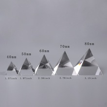 5 size Energy Healing Egypt Egyptian Crystal Glass Pyramid Clear Rare Feng Shui Crystals Craft ornaments for Home Office Decor