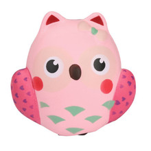 Cute Cartoon Toy 13.5cm Jumbo Squishy Cute Owl Buns Cream Scented Slow Rising Kids Toy Hand Grips Muscle Power Training(China)