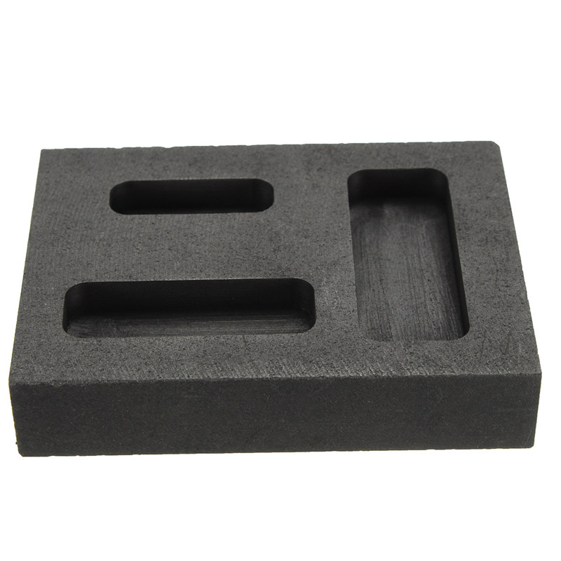 1/4 1/2 1 Gold Gold Melting Goove Graphite Crucible Melting Metal Bar Molds Crucible 56X46X21mm<br><br>Aliexpress