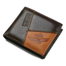 Famous Luxury Brand Genuine Leather Men Wallets Coin Pocket Zipper Men's Leather Wallet with Coin Purse portfolio cartera