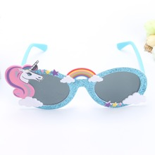 Unicorn Funny Party Favors Costume Glasses Sunglasses Mask Birthday Photobooth Props Gift Wedding Supplies Decoration Shiny Blue