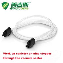 Vacuum hose to work on the canister and wine stopper through the Magic Seal vacuum sealer(China)