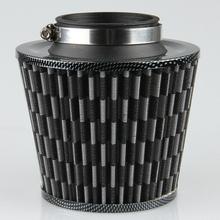 75mm Universal Auto Vehicle Car Air Filter Cold Air Intake Filter Cleaner Dual Funnel Adapter works Air Hood Filters For Opel VW