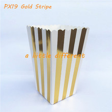 12pcs/lot Wedding Popcorn Box Gold and Silver Foil Small Favor Boxes For Movie night in Picnics Wedding lolly buffet Supplies(China)