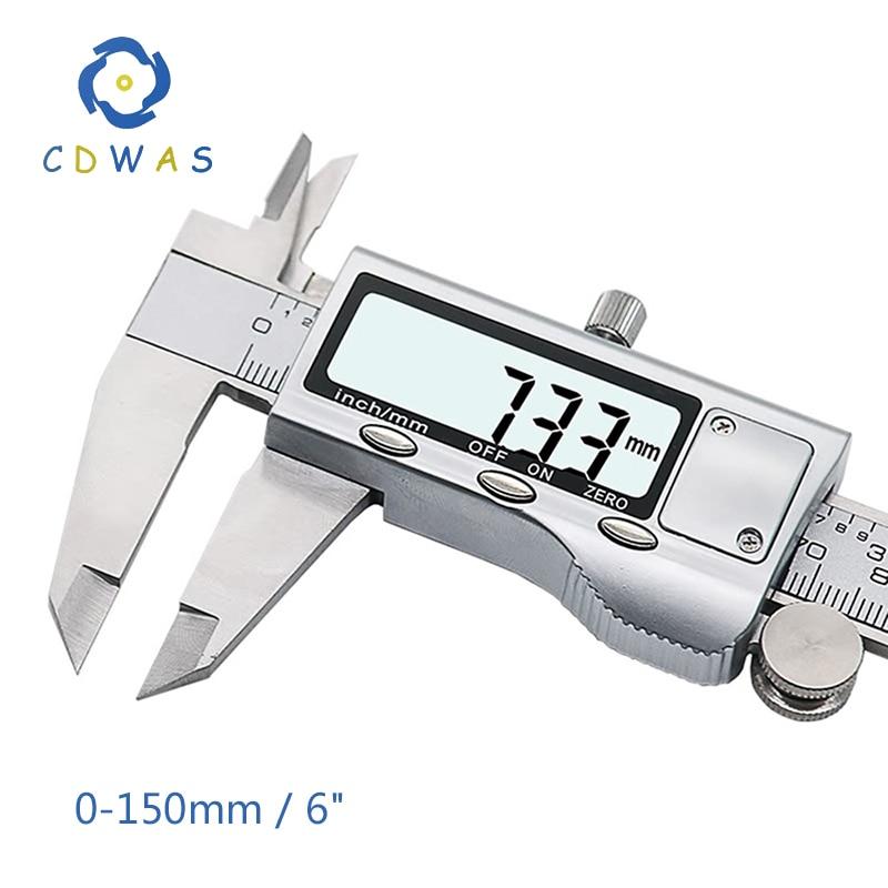 Calibre deslizante de precisión de 150 mm con tornillo de bloqueo Reglas herramienta de medición