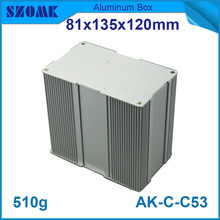 4pcs/lot fashion design aluminium extrusion housing for electronics with anodizing 81*135*120mm