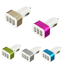 Universal Triple USB Car Charger 3 Port Charging Adapter Socket 2.1A 2.1A 1.0A USB Charger Car Styling  CSL2017