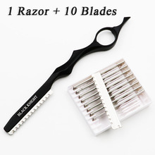 2017 Hot Japan Stainless Steel Professional Sharp Barber Razor Blade Hair Razors Cut Hair Cutting Thinning Knife Salon Tools