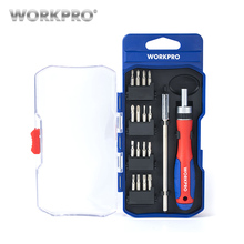 WORKPRO 18 in1 Precision Screwdrivers Slotted Phillips Bits Torx Extension bar for Smartphone PC Laptop Electronics(China)
