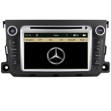 Free Shipping Car DVD Player GPS Navigation System Radio For Benz Smart Fortwo 2012 2013 Bluetooth RDS steering wheel control