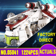 Lepin 05041 Star Genuine War Series The The Republic Gunship Set Educational Building Blocks Bricks Toys as new year gift 75021(China)