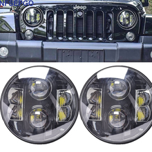 "NFSEPGO 7"" LED Projector Head Light 80W for Jeep Wrangler Harley Davidson 2012-2013 FLD / 1994-2013 Touring & Softail Models"
