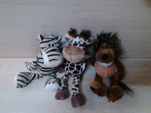 3pcs/lot 25cm Super Quality Hot Selling NICI Plush TOys Stuffed Animals Lion&Tiger&Leopard Low Price Baby Toys Free Shipping