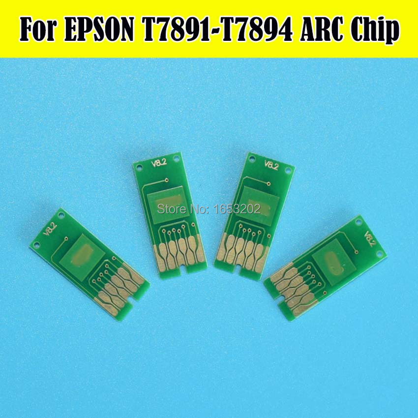 2 Set Auto Reset Chip For Epson T7891-T7894 789 For Epson WF-5620dwf WF-5690dwf WF-5190DW WF-5110DW Printer Cartridge Chips<br><br>Aliexpress