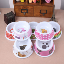 Melamine Pet Bowl Colorful small Dog Cat Food Feeder Bowl Cute Puppy Drinking Food Bowl
