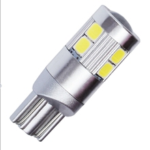 10X T10 W5W 9 SMD 3030 LED Car Clearance Light Marker Lamp 168 WY5W 9SMD LED CANBUS Auto Wedge Tail Side Bulbs White Blue Yellow(China)