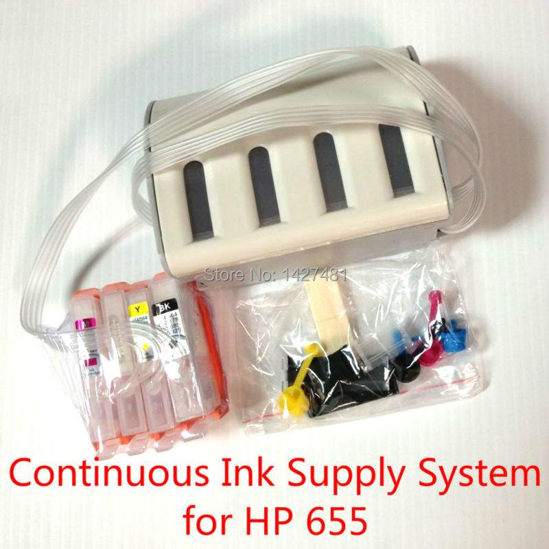 CISS cartridge Supply System for hp655 655 for HP Deskjet Ink Advantage 3525 4615 4625 5525 6520 6525 inkjet printer with chip<br><br>Aliexpress