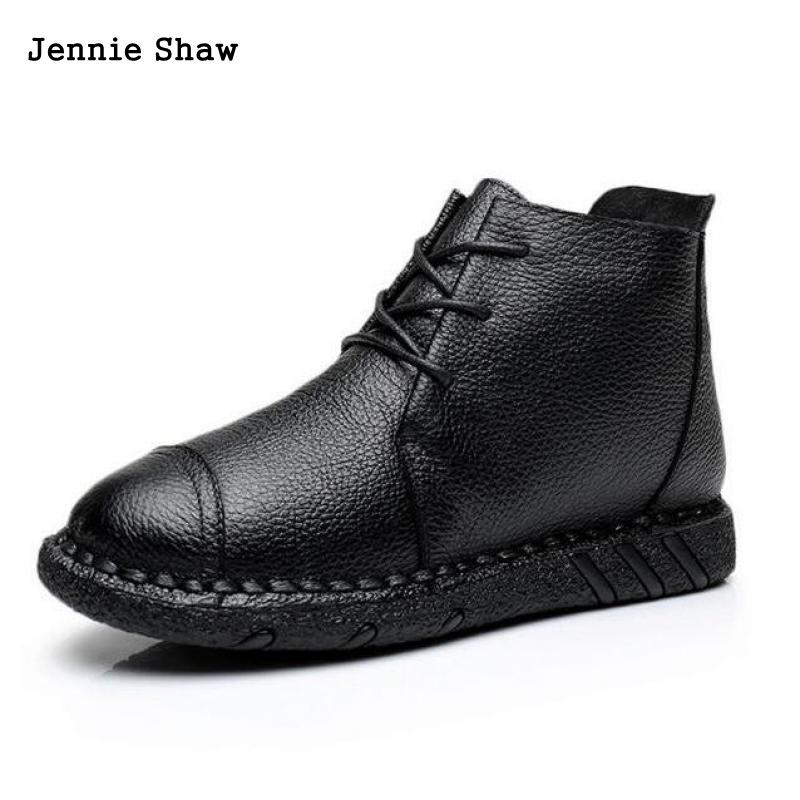 women winter shoes genuine leather soft bottom shoes female flat heel shoes short boots leisure shoes sys-1246<br>