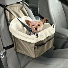 Useful Portable Pet Soft Car Booster Seat Soft Safety Dog Cat Puppy Carrier Cage Travel Tote Bag Basket Luggage