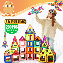 Minitudou New 200PCS Mini Magnetic Blocks Building Constructor Designer Kids DIY Educational Toys Games For Children
