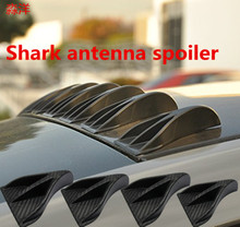 racing sport Alpha racing Air Vortex Generator Diffuser Roof Shark Fins Spoiler Wing 8pcs Set Kit shark antenna spoiler
