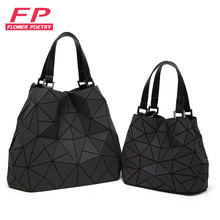 Flower poetry Bag Women Luminous Bao Bao Bucket bag Diamond Geometry Shoulder Bags Plain Folding Handbags Ladies Messenger Bags