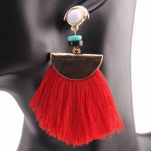 Buy Acrylic Bead Drop Dangle Chandelier Red Color Tassel Pendant Women Earrings Gift 2017 Brand New Design Fashion Earrings Jewelry for $3.17 in AliExpress store