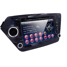 Russia Menu Car Monitor DVD Player for KIA RIO K2 with Radio,GPS Navigation,TV,SWC,BT,USB/SD,Russian menu,RDS AVI Free 8GB Map