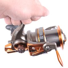 Hynix 8000/9000 13 + 1BB long shot reel casting for carp and salt water surf spinning big sea fishing reel Metal Fishing Reel(China)